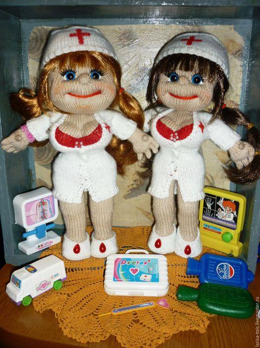 Человечки ручной работы. Ярмарка Мастеров - ручная работа. Купить Куколки- по профессиям. Handmade. Комбинированный, сувенир, подарок