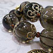 Украшения ручной работы. Ярмарка Мастеров - ручная работа браслеты из тибетского агата и раух-топазов. Handmade.