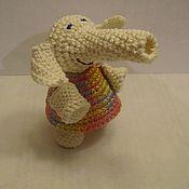 """Куклы и игрушки ручной работы. Ярмарка Мастеров - ручная работа игрушка """"Слоник белый"""". Handmade."""