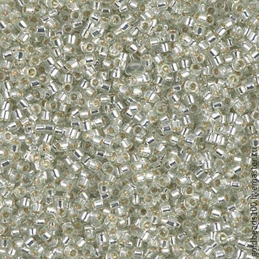 Для украшений ручной работы. Ярмарка Мастеров - ручная работа. Купить 10 ГР MIYUKI DELICA 11/0 DB1431 silver-lined clear. Handmade.