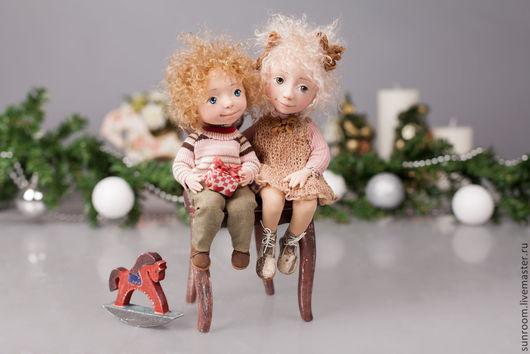 Коллекционные куклы ручной работы. Ярмарка Мастеров - ручная работа. Купить Младший брат. Handmade. Бежевый, светло-серый, кукла