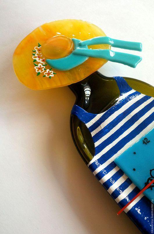 """Часы для дома ручной работы. Ярмарка Мастеров - ручная работа. Купить часы """"МОРЯЧКА"""". Handmade. Разноцветный, моряку, Витраж"""