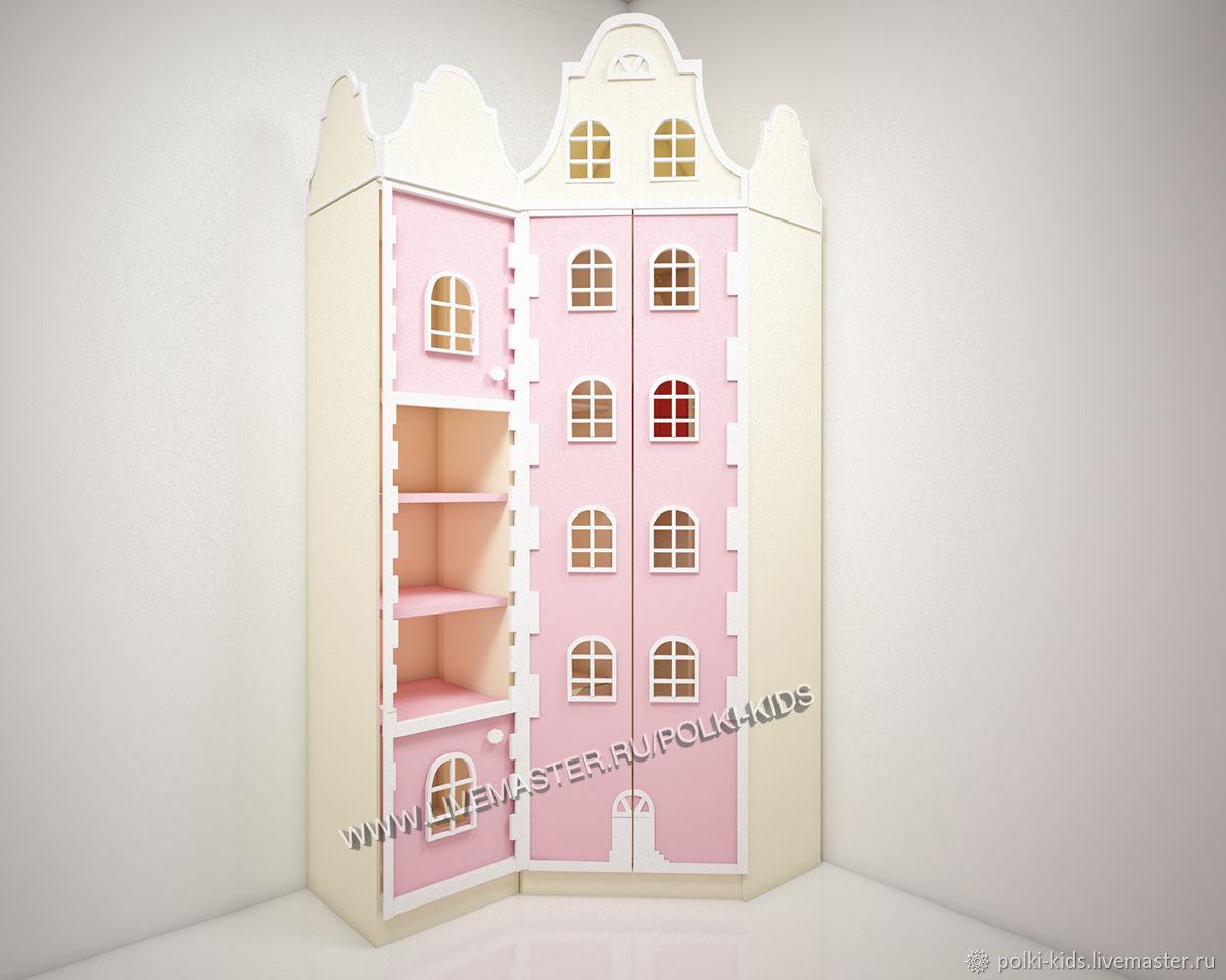 Шкаф-домик с окошками и стеллаж Виолетта-3, Шкафы, Санкт-Петербург,  Фото №1