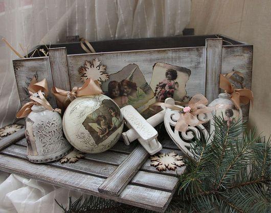 Подарочные наборы ручной работы. Ярмарка Мастеров - ручная работа. Купить Винтажный набор новогодних ёлочных игрушек. Handmade.