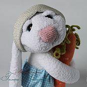 Куклы и игрушки ручной работы. Ярмарка Мастеров - ручная работа вязаная игрушка Заяц-улыбашка. Handmade.