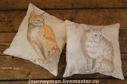 Текстиль, ковры ручной работы. Ярмарка Мастеров - ручная работа. Купить подушка Кошка. Handmade. Кот, декоративная подушка, гостинная
