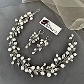 Свадебный салон handmade. Livemaster - original item Wedding jewelry for bride .