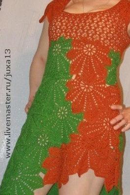 """Платья ручной работы. Ярмарка Мастеров - ручная работа. Купить платье летнее,,Листья"""". Handmade. Хлопок"""