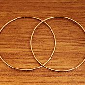 Украшения ручной работы. Ярмарка Мастеров - ручная работа Золотые серьги - кольца, золото 585. Handmade.