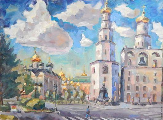 Город ручной работы. Ярмарка Мастеров - ручная работа. Купить Кремль. Handmade. Кремль, москва, цаоь-колокол, лето, храм