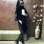 Одежда ручной работы. Ярмарка Мастеров - ручная работа Шуба норковая Blackglama поперечка с воротником стойка. Handmade.