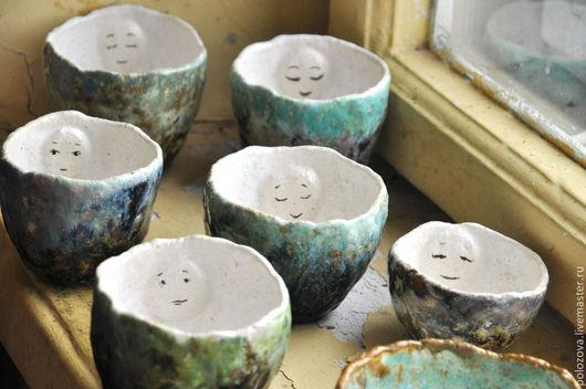 Кружки и чашки ручной работы. Ярмарка Мастеров - ручная работа. Купить чайные лица - импрессионисты. Handmade. Чашка, авторская керамика