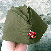 Аксессуары handmade. Livemaster - original item The soldier`s forage cap children and adult. Handmade.
