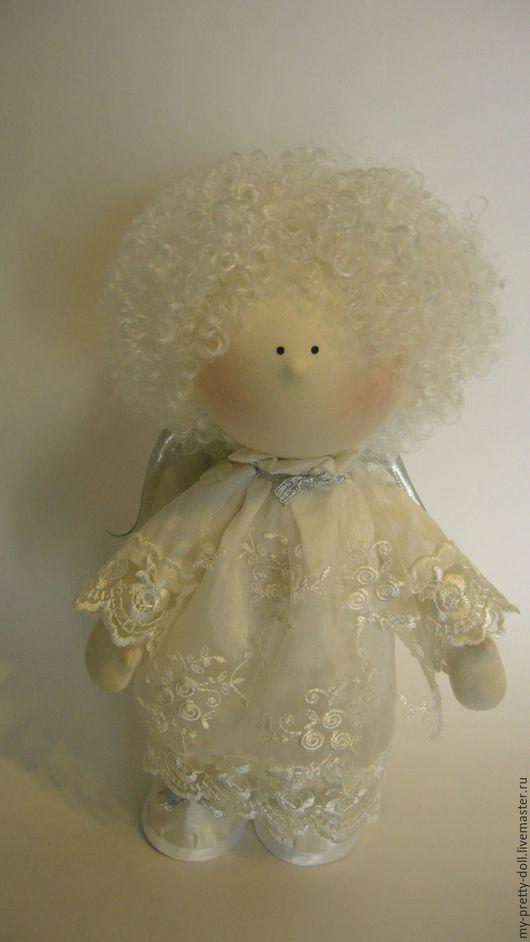 Коллекционные куклы ручной работы. Ярмарка Мастеров - ручная работа. Купить Кукла Снежка Ангел большой. Handmade. Снежка, интерьерная кукла