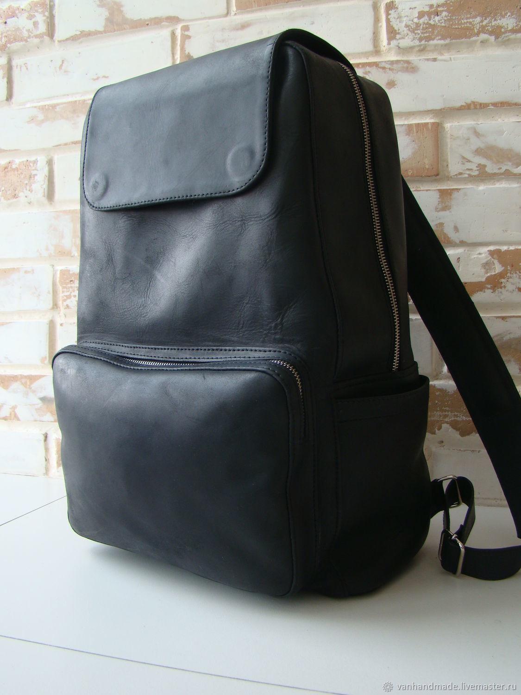 436eeaf343df Рюкзаки ручной работы. Ярмарка Мастеров - ручная работа. Купить Стильный  кожаный рюкзак   винтажный ...