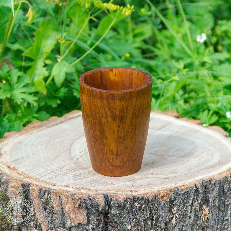 Деревянный стакан из натурального дерева Сибирский Кедр для чая C4, Кружки и чашки, Новокузнецк,  Фото №1