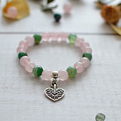 Bead bracelet handmade. Livemaster - original item A bracelet made of beads: Romantic talisman