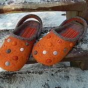 Обувь ручной работы. Ярмарка Мастеров - ручная работа Рыжики Кроксы а ля Рюс. Handmade.