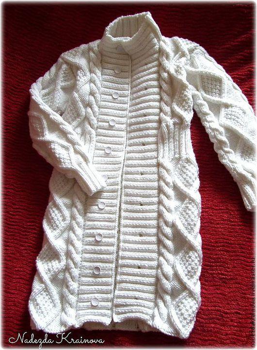 Одежда для девочек, ручной работы. Ярмарка Мастеров - ручная работа. Купить Детский кардиган. Handmade. Белый, белый цвет, акрил