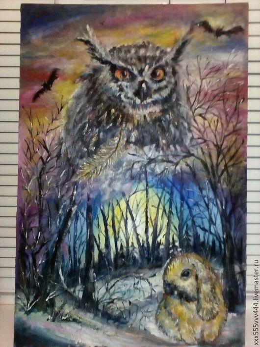 Фэнтези ручной работы. Ярмарка Мастеров - ручная работа. Купить Сказочный лес. Картина маслом. Handmade. Комбинированный, пейзаж