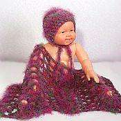 Работы для детей, ручной работы. Ярмарка Мастеров - ручная работа Шапочка и обмотка для фотосессии новорожденных ( повязка фотосессия ). Handmade.