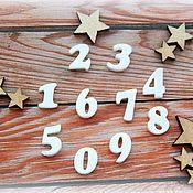 Материалы для творчества ручной работы. Ярмарка Мастеров - ручная работа Набор пластиковых цифр- от 0 до 9. Handmade.