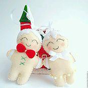 Подарки к праздникам handmade. Livemaster - original item Christmas tree decorations - Gingerbread men. Handmade.