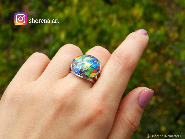 Серебряное кольцо с горячей эмалью, Кольца, Тбилиси, Фото №1