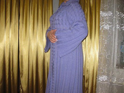 Верхняя одежда ручной работы. Ярмарка Мастеров - ручная работа. Купить пальто с косами. Handmade. Расклешенное пальто