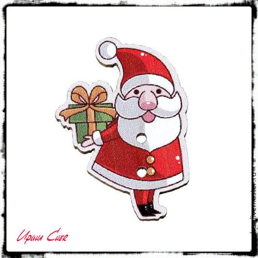 """Вышивка ручной работы. Ярмарка Мастеров - ручная работа. Купить Деревянные магниты для игл """"Дед Мороз"""". Handmade. Комбинированный, магнит"""