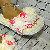 Slippers handmade. Livemaster - original item Slippers-shale