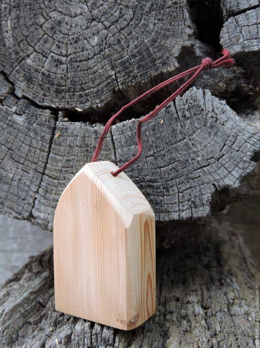 Новый год 2017 ручной работы. Ярмарка Мастеров - ручная работа. Купить Ёлочная деревянная игрушка - домик. Handmade. Елка новогодняя