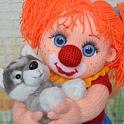 """Куклы и игрушки ручной работы. Ярмарка Мастеров - ручная работа Кукла вязаная """"Клоунесса"""". Handmade."""