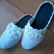 Обувь ручной работы handmade. Livemaster - original item Knitted bedroom Slippers - flip flops ( the wool ). Handmade.