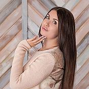 "Одежда ручной работы. Ярмарка Мастеров - ручная работа ""Ветка сакуры"" джемпер вязано-валяный. Handmade."