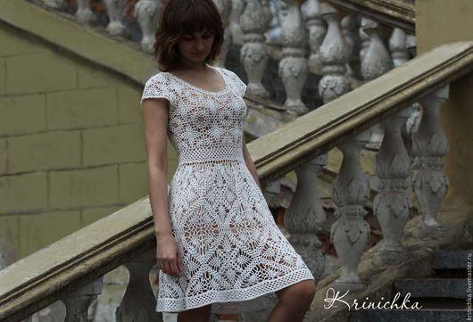 Платья ручной работы. Ярмарка Мастеров - ручная работа. Купить Белое летнее платье из хлопка. Handmade. Платье из хлопка