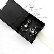 Украшения handmade. Livemaster - original item Silver stylish asymmetric earrings for every day. Handmade.