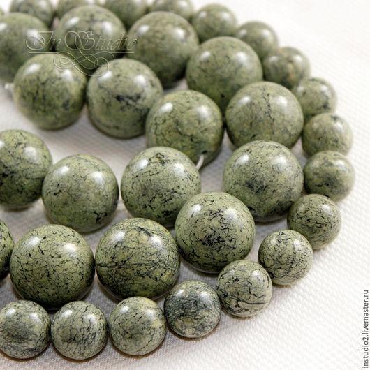 Для украшений ручной работы. Ярмарка Мастеров - ручная работа. Купить Змеевик (серпентинит) 12 и 18мм шар - бусины камни для украшений. Handmade.