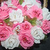 Цветы и флористика ручной работы. Ярмарка Мастеров - ручная работа Корзина с розами. Handmade.