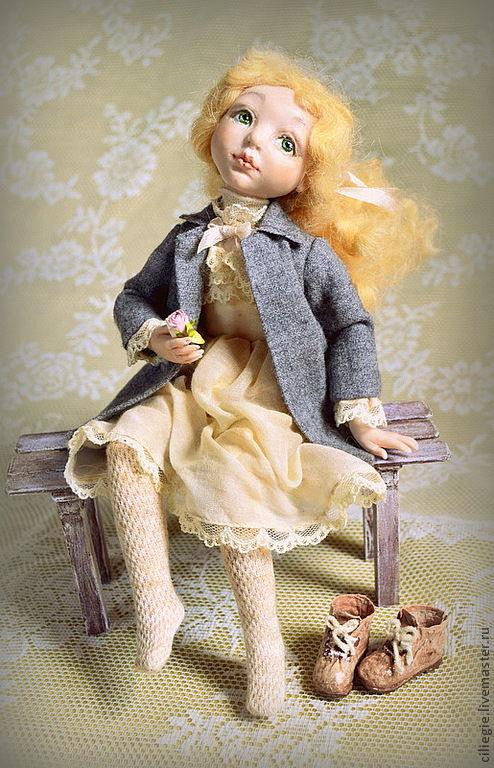 Коллекционные куклы ручной работы. Ярмарка Мастеров - ручная работа. Купить Первый день осени. Handmade. Роза, кружева, мечта
