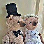 Мягкие игрушки ручной работы. Ярмарка Мастеров - ручная работа Жених и Невеста. Handmade.