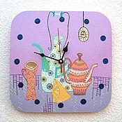 Часы ручной работы. Ярмарка Мастеров - ручная работа Кухонные настенные часы Время пить чай, Натюрморт - часы ручной работы. Handmade.