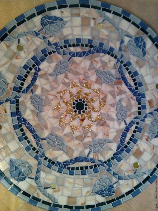 """Мебель ручной работы. Ярмарка Мастеров - ручная работа. Купить Столик мозаика """"Голубая лоза в мраморе"""". Handmade. Тёмно-бирюзовый"""