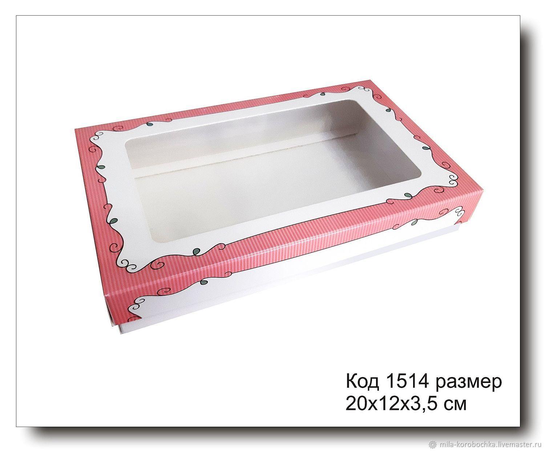 1514 коробка с окошком размер 20х12х3.5 см для пряника, Материалы для творчества, Симферополь, Фото №1