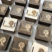 Аксессуары для кукол и игрушек ручной работы. Ярмарка Мастеров - ручная работа Коробка деревянная 8х8х3 см. Handmade.