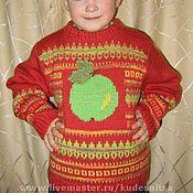 """Работы для детей, ручной работы. Ярмарка Мастеров - ручная работа Детский свитер  """"Яблочный"""". Handmade."""