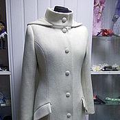 Пальто ручной работы. Ярмарка Мастеров - ручная работа Пальто зимнее с утеплителем и капюшоном. Handmade.