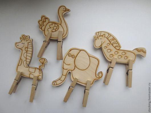 Развивающие игрушки ручной работы. Ярмарка Мастеров - ручная работа. Купить Развивающая игрушка с прищепками Животные.. Handmade. Развивающая игрушка