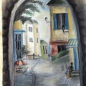 Картины и панно ручной работы. Ярмарка Мастеров - ручная работа улочка. Handmade.