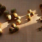 Украшения ручной работы. Ярмарка Мастеров - ручная работа Можжевеловые бусины. Handmade.